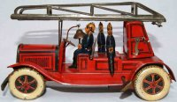 Greppert & Kelch Tin-Fire-Truck Fire ladder car #569 in...
