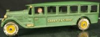 Hubley Cast-Iron buses Bus made of cast iron, painted in...