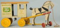 Rich Toys Inc. Wood-Carriages Borders horse cart made of...