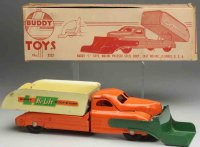 Buddy L Tin-Trucks Hi-Lift scoop-N-dump truck #3322, made...