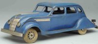 Kingsbury toys Tin-Oldtimer Airflow sedan in blue with...