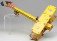 Dayton Tine Ariplanes Bi-wing airplane made of pressed...
