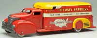 Marx Tin-Trucks Highway express delivery truck, made of...