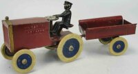 Kingsbury toys Tin-Tugs/Rollers Wind-up tractor with...