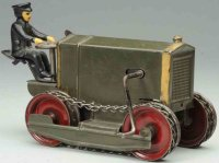 Kingsbury toys Tin-Tugs/Rollers Wind-up tractor, made of...