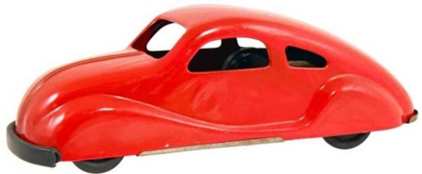 NY-LINT Co Tin-Cars Car #600. Painted pressed steel wind-up car with multiple fu