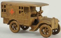 Unknown Cast-Iron-Mechanical Banks Ambulance car as bank,...