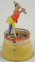 Unknown Tin-Clowns Clown with horn, wind-up toy, mad of...