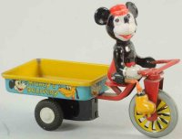 Marx Tin-Figures Mickeys delivery bicycle made of...