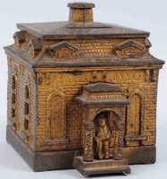 Judd H.L. Cast-Iron-Mechanical Banks Home, building...