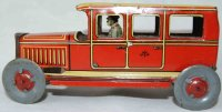 Meier Tin-Penny Toy Beautifully lithographed sedan in red...