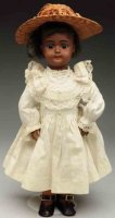 Simon & Halbig Dolls Brown bisque socket head doll #1078,...