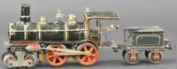 Maerklin Railway-Locomotives Early locomotive 4-4-0 with...