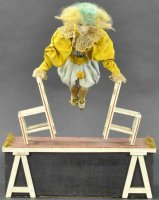 Unknown Tin-Automata Acrobatic clown, an excellent...