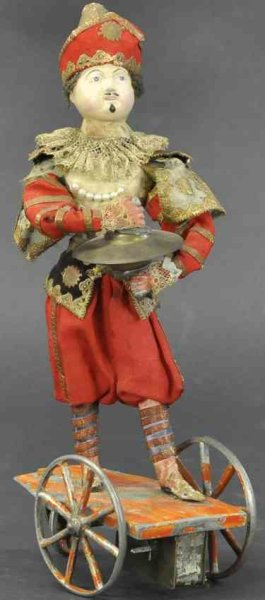 Unknown Tin-Automata French cymbal player. Elaborately dressed figure with painte