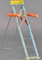 Unknown Tin-Figures Acrobats on ladder as gravity toy...