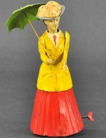 Guenthermann Tin-Figures Woman with parasol, made of tin,...
