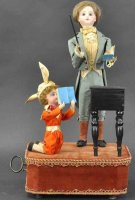 Rouillet & Decamps Tin-Automata Schoolmaster and pupil....