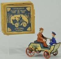 Lehmann Tin-Oldtimer Naughty boy #495 with clockwork,...
