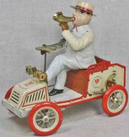 Lehmann Tin-Oldtimer Tut Tut car #490 with wind up...