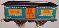 American Flyer Railway-Passenger Cars Baggage car #1202...
