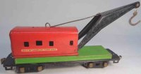 American Flyer Railway-Freight Wagons Wecker crane car...