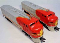 Lionel Railway-Locomotives Santa FE D-3 #2383 diesel...