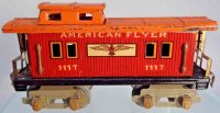 American Flyer Railway-Freight Wagons Caboose #1117 with...