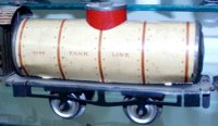 Ives Railway-Freight Wagons Tank car #66 1909 with four...