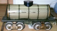 Ives Railway-Freight Wagons Tank car #66 1910 with four...