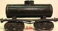 Ives Railway-Freight Wagons Tank car #66 1913 with four...