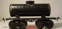 Ives Railway-Freight Wagons Tank car #66 1914 with four...