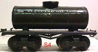 Ives Railway-Freight Wagons Tank car #66 1916 with four...