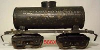 Ives Railway-Freight Wagons Tank car #66 1919 with four...