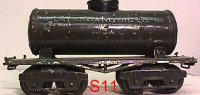 Ives Railway-Freight Wagons Tank car #66 1923 with four...