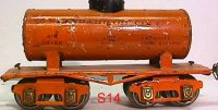 Ives Railway-Freight Wagons Tank car #66 1930 with eight...