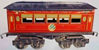 American Flyer Railway-Passenger Cars Pullman car #1201...