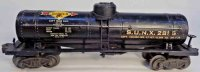 Lionel Railway-Freight Wagons Tank car #2855 with eight...