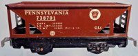 Marx Railway-Freight Wagons Hopper car #738701 PRR wirh...