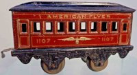 American Flyer Railway-Passenger Cars Pullman car #1107...
