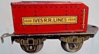 Ives Railway-Tender Tender #1502 with four wheels, mad of...