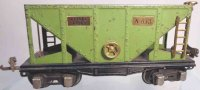 Lionel Railway-Freight Wagons Hopper car #653.2 with...