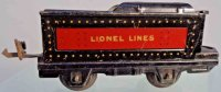Lionel Railway-Tender Tender #1661T with four wheels,...