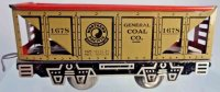 Marx Railway-Freight Wagons Hopper car #1678 with four...