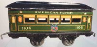 American Flyer Railway-Passenger Cars Pullman car #1106...