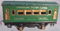 American Flyer Railway-Passenger Cars Pullman car #3152...