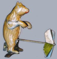 Guenthermann Tin-Figures Bear with umbrella