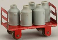 Kibri Railway-Platform Accessories Milk cart #41/9...