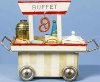 Kibri Railway-Platform Accessories Buffet cart #63/6,...