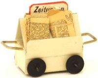 Kibri Railway-Platform Accessories Newspaper wagon...